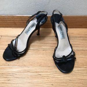 Black Jimmy Choos sandals!